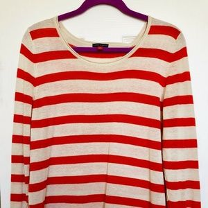 Vince Camuto Gold & Orange Stripe Sweater